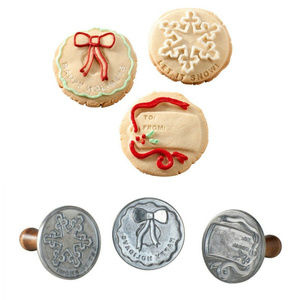 Nordic Ware Holiday Cast 3-inch Cookie Stamps set